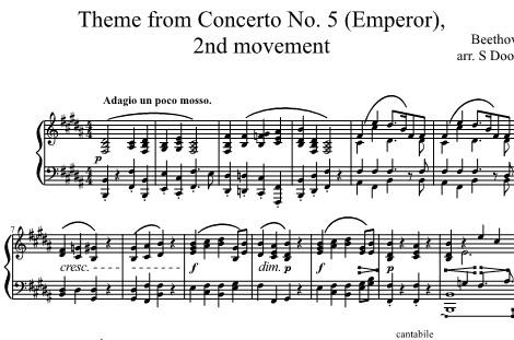 Emperor Concerto 2nd movement theme